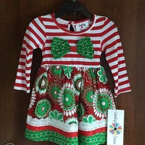 010449913f0 Counting Daisies. New Red   White Toddlers Christmas Dress ...